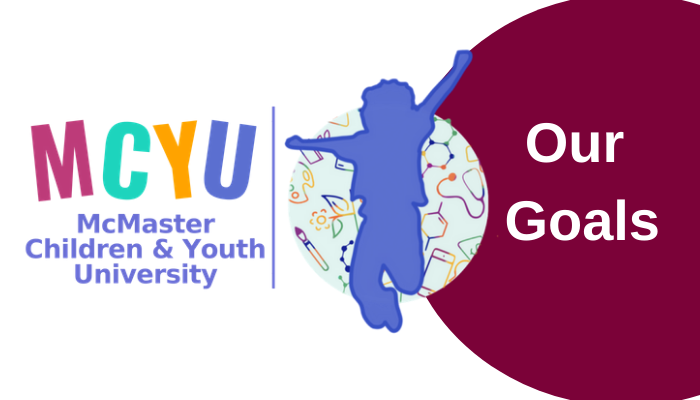 Our Goals. MCYU, McMaster Children & Youth University.